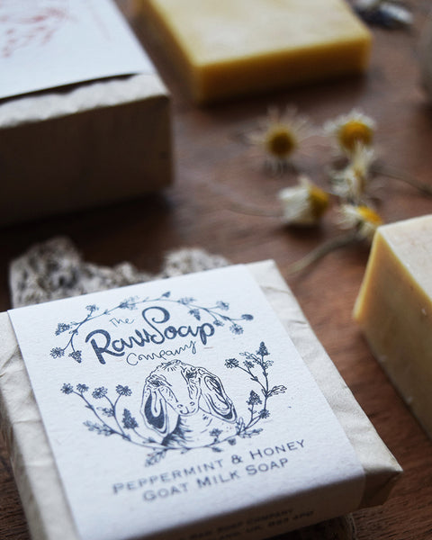 Peppermint & Honey Mini Soap Bar at Lewes Map Store