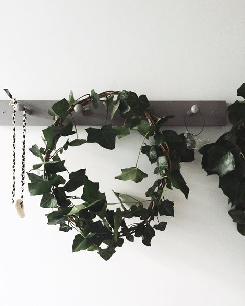 Ivy wreath made by @lewesmap Perfect for simple and natural Christmas decoration.