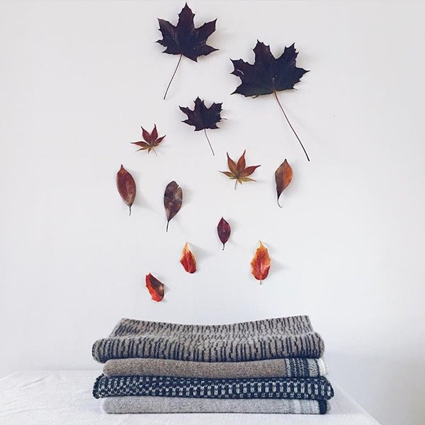 Autumn leaves and cosy knits for 'Simple Nature Finds' by Jules Hogan @juleshoganknitwear