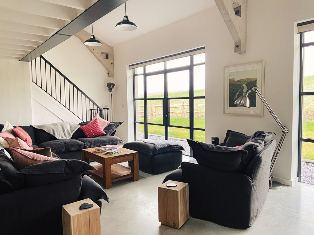 The Grain Store Lewes, a luxury holiday accommodation with amazing views across the South Downs.