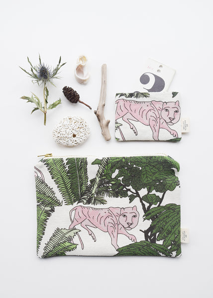 Animal and botanical themed make up bag and card holder by 20 Seventh Letter available at Lewes Map Store