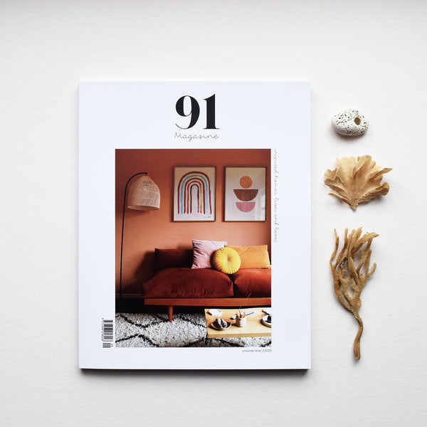 91 Magazine is an independent interiors and lifestyle magazine printed in Wales. In Volume Nine 91 Magazine celebrates their love of colour! Whether it is bold and bright or soft and subtle, colour plays a big part in our home interiors and our lives.