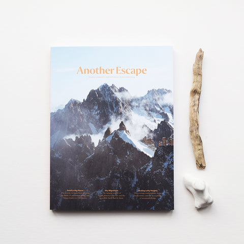 Another Escape Magazine, Volume Ten, the Altitudes Volume explores our innate fascination and appreciation for great heights.