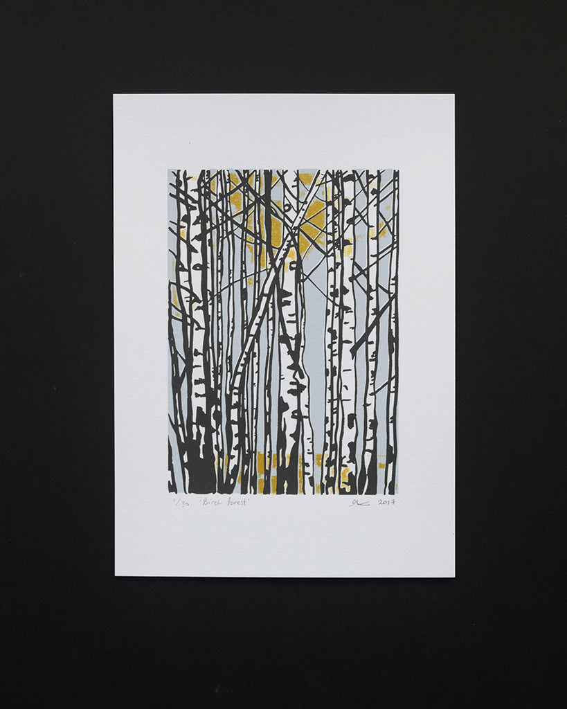 Birch Forest Screen Print By Anna S Drawing Room Lewes Map Store