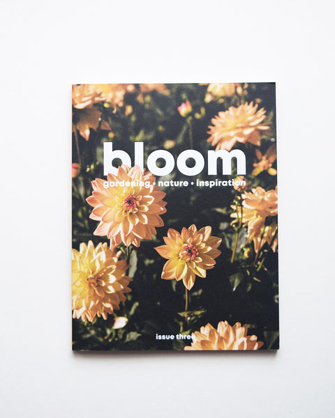 Bloom is a magazine for gardeners, plant admirers, nature lovers, curious explorers and outdoor adventurers. It is beautiful and useful; it looks lovely and it works hard; it makes you muse on the handsomeness of nature and it inspires you to get out there and be a part of it. Issue 3, the summer edition is bursting with practical projects, thoughtful explorations of the natural world and celebrations of all things green.