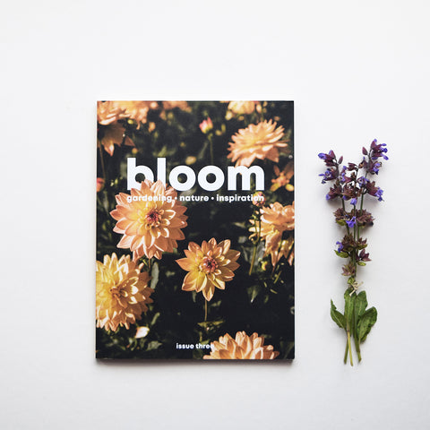 Bloom is a magazine for gardeners, plant admirers, nature lovers, curious explorers and outdoor adventurers. It is beautiful and useful; it looks lovely and it works hard; it makes you muse on the handsomeness of nature and it inspires you to get out there and be a part of it. Issue three out now.