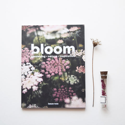 Bloom is a magazine for gardeners, plant admirers, nature lovers, curious explorers and outdoor adventurers. It is beautiful and useful; it looks lovely and it works hard; it makes you muse on the handsomeness of nature and it inspires you to get out there and be a part of it. Issue two out now.
