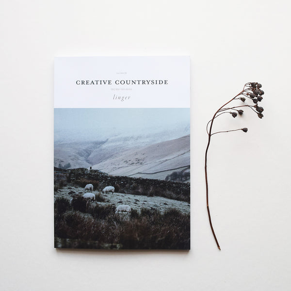 Creative Countryside is a beautiful quarterly printed independent magazine for wild & wholehearted folk. Issue 6 'Linger' out now.