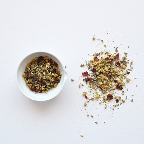 Cosy Chamomile herbal infusion - Unwind with this warm and comforting hand blended infusion, packed with herbs carefully chosen for their ability to relax your body and soothe your mind. All ingredients are ethical sourced and fairly traded.