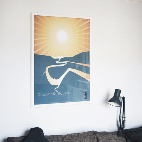 This is Cuckmere Haven in East Sussex, a new Hako Kanada modern art print by Malcolm Trollope-Davis.