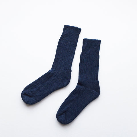 These soft and cosy Alpaca socks in indigo are perfect for wearing inside your walking boots or wellies! They have a cushion sole for extra comfort and they are breathable to resist moisture. These socks have been made in Nottinghamshire by one of the oldest sock manufacturers in the UK using traditional techniques.