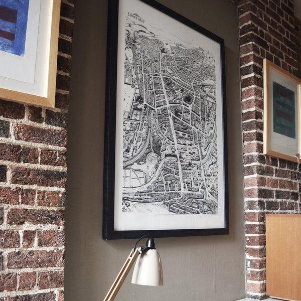 Lewes Map limited print from illustration by Malcolm Trollope-Davis, hand drawn
