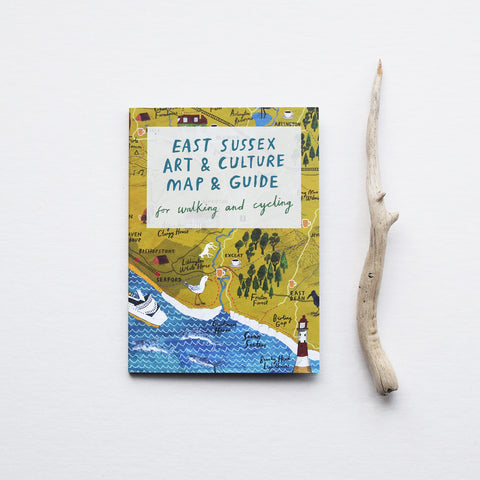 We love this East Sussex Art & Culture Map & Guide for walking and cycling with beautiful illustrations by Benjamin Phillips! The focus of this lovely little fold out map and guide is East Sussex and includes the South Downs, Brighton, Lewes and Newhaven showing the usual mix of outdoor activities and cultural sites.