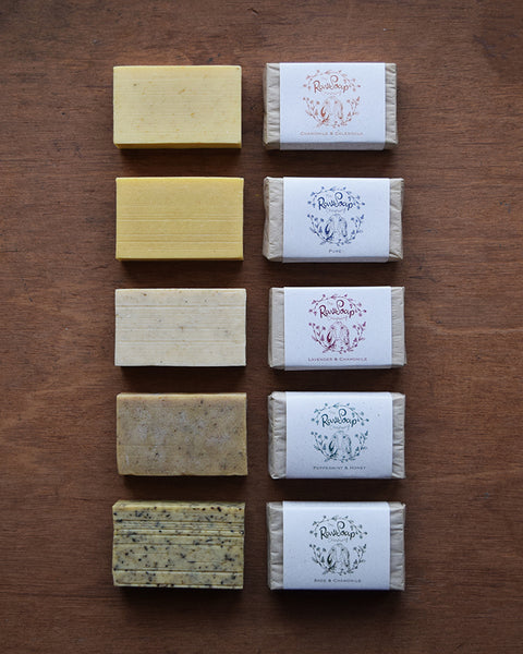 Handcrafted soap bar made from pure goat milk, calendula infused rapeseed oil and pure Hampshire chamomile essential oil.