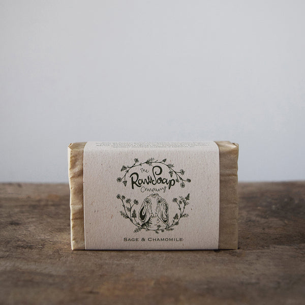 This handmade Sage & Chamomile Goat Milk Soap Bar contains pure Hampshire sage and chamomile essential oil which are blended to produce a powerful warm and herbaceous aroma that soothes and relaxes.