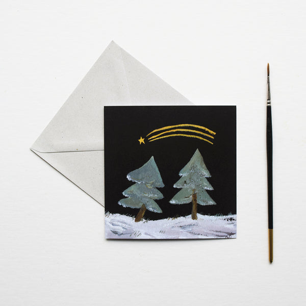 'Shooting Star' by Gemma Koomen is a greeting card featuring one of her beautiful illustrations painted in gouache and ink.