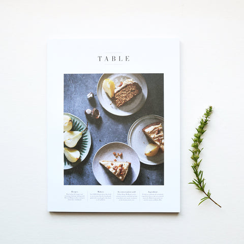 Table is a bi-annual food, travel and lifestyle magazine based in the United Kingdom. Salt is the star of issue three and shows up in almost every story and recipe; and we even asked Jennifer Cunningham, a self-proclaimed lover of salt, to share her devotion to the tangy spice in a form of a love letter.