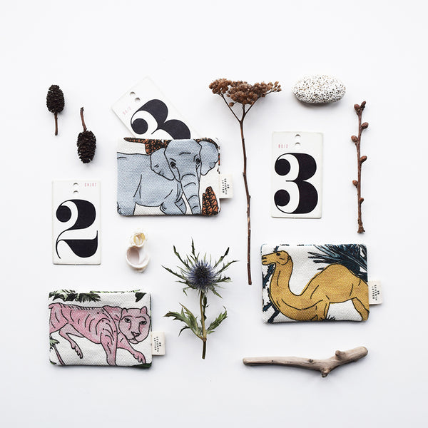 These beautiful card holders with an animal and botanical themed pattern, have been handmade in London from luxurious linen printed in Scotland.