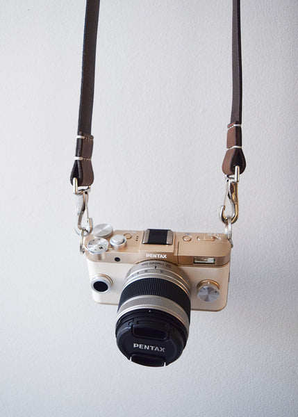 Leather Camera Strap | Antique Brown