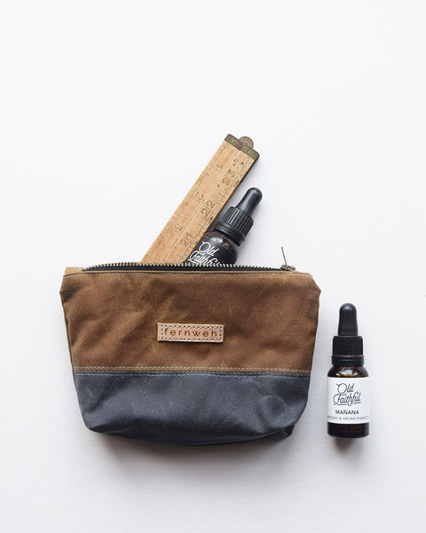 Designed and handcrafted in a seaside studio in Aberdeen, this beautiful and practical pouch is perfect for keeping all your essentials safe when out on your everyday adventures. It's made from waxed cotton canvas which is water resistant and durable.