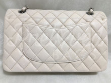 "SOLD Chanel 10"" 2.55 Light Beige Caviar Double Flap Double Chain Bag with Silver Tone Hardware. - PrelovedBags Chanel"