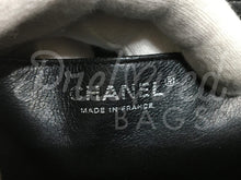 "SOLD Chanel 12"" Jumbo Black Caviar Single flap Double Chain bag with Silver Hardware - PrelovedBags Chanel"