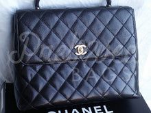 "SOLD Chanel 11.81"" Black Caviar Leather Kelly Bag with 24 Carat Gold Plated Hardware - PrelovedBags Chanel"