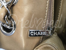 "SOLD Chanel 12"" Mushroom Lambskin Single flap Double Chain Shoulder Bag Silver Tone Hardware - PrelovedBags Chanel"