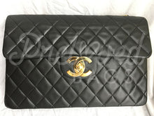 "Sold Chanel 13.38"" Jumbo Black Lambskin XL Maxi Single Flap Bag with 24 Carat Gold Plated Hardware. - PrelovedBags Chanel"
