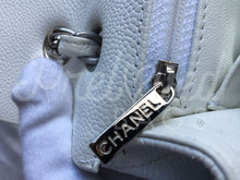 "SOLD Chanel 13.38"" Jumbo White Caviar Leather XL Maxi Double Flap Bag Silver Tone Hardware. - PrelovedBags Chanel"