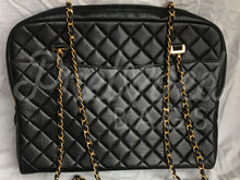 "SOLD - Chanel 13.77"" Black Lambskin Zip Top Camera Style Shoulder Bag With 24 Carat Gold Plated Hardware. - PrelovedBags Chanel"