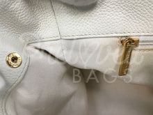 "SOLD Chanel 14"" White Executive Cerf Leather Tote 24 Carat Gold Plated Hardware. - PrelovedBags Chanel"