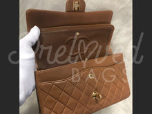 "SOLD - Chanel 10"" 2.55 Brown Lambskin Leather Double flap Shoulder Bag with 24 Carat Gold Plated Hardware - PrelovedBags Chanel"