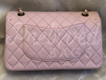 "Chanel 10"" 2.55 Soft Pink Lambskin Double flap Shoulder Bag with Matte Gold Hardware - PrelovedBags Chanel"