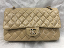 "SOLD - Chanel 10"" 2.55 Beige Lambskin Leather Double flap Shoulder Bag GHW - PrelovedBags Chanel"