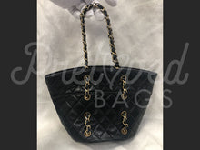 "Chanel Small 11.4"" Black Lambskin Leather Bag With Gold Hardware - PrelovedBags Chanel"