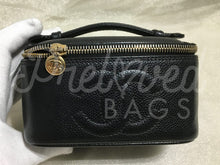 SOLD Chanel Black Caviar Vanity Case - PrelovedBags Chanel