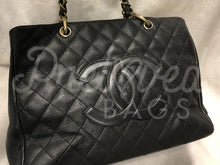 "Chanel 12.99"" Black Caviar GST Grand Shopper Tote Shoulder Bag With 24 Carat Gold Plated Hardware - PrelovedBags Chanel"