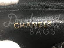 "Chanel 7.48"" Black Caviar Leather Vanity Case Gold Medallion Hardware - PrelovedBags Chanel"