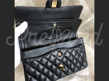 "SOLD - Chanel 10"" 2.55 Black Caviar Leather Double flap Shoulder Bag with Gold Hardware - PrelovedBags Chanel"