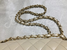 "SOLD - Chanel 10"" 2.55 Beige Lambskin Double Flap Double Chain Shoulder Bag with 24 Carat Gold Hardware. - PrelovedBags Chanel"