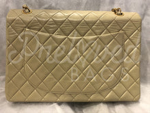 "SOLD - Chanel 13.38"" Jumbo Beige Lambskin XL Maxi Single Flap Bag with 24 Carat Gold Hardware - PrelovedBags Chanel"