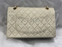 "SOLD - Chanel 10"" 2.55 Beige Lambskin Leather Double flap Shoulder Bag With 24 Carat Gold Hardware - PrelovedBags Chanel"