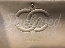 "Chanel 10"" 2.55 Beige Chevron Lambskin Leather Double flap Bag With 24 Carat Gold Plated Hardware - PrelovedBags Chanel"