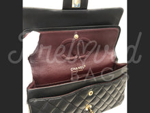 "SOLD - Chanel 13.38"" Jumbo Black Lambskin XL Maxi Single Flap Bag with 24 Carat Gold Plated Hardware - PrelovedBags Chanel"