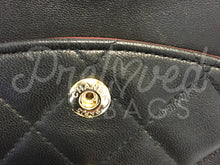 "SOLD - Chanel 10"" 2.55 Black Lambskin Leather Double flap Shoulder Bag with Gold Plated Hardware - PrelovedBags Chanel"