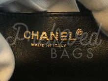 "SOLD - Chanel 12"" Jumbo Black Caviar Leather Single Flap Bag with Gold Tone Hardware - PrelovedBags Chanel"