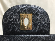 "SOLD - Chanel 13.38"" Jumbo Black Caviar Leather XL Maxi Double Flap Bag Gold Tone Hardware - PrelovedBags Chanel"