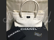 "SOLD - Chanel 14"" Ivory Executive Cerf Leather Tote Silver Hardware - PrelovedBags Chanel"