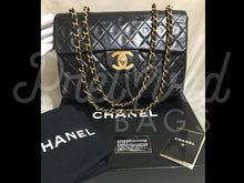 "Sold - Chanel 13.38"" Jumbo Black Lambskin XL Maxi Single Flap Bag with 24 Carat Gold Plated Hardware. - PrelovedBags Chanel"